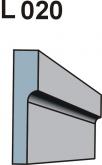 Listwa okienno podparapetowa L020