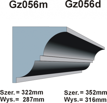 Gzymsy Gz 056m
